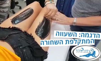 טיפול שעווה עם שעווה מתקלפת שחורה לכל בגוף